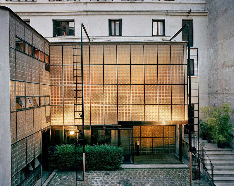 The Maison de Verre (House of Glass) in Paris