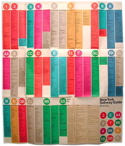 Massimo Vignelli 1972 Nyc Subway Map.Take A Look Inside Massimo Vignelli S Famous 1972 Subway Map