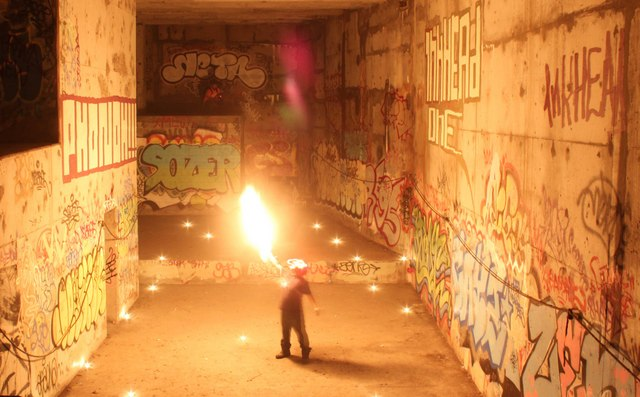 NYC Subway-Pyrotechnic Fire Art-__MacGyver-Urban Exploration-026