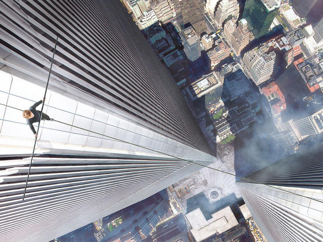 Movie Poster for The Walk about WTC Tight Roper Puts Twin Towers in Midtown