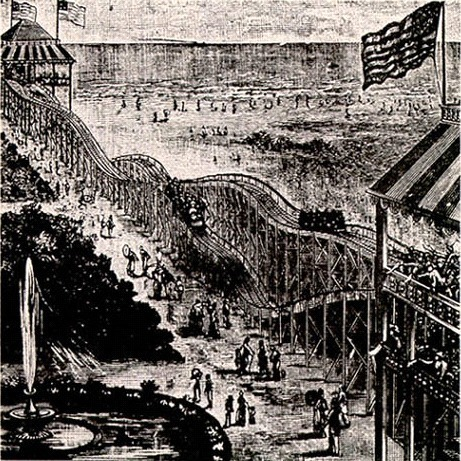 The Top 25 Secrets of NYC's Coney Island_Thompsons_Switchback_Railway_1884_Brooklyn_NYC_Stephanie Geier_Untapped Cities