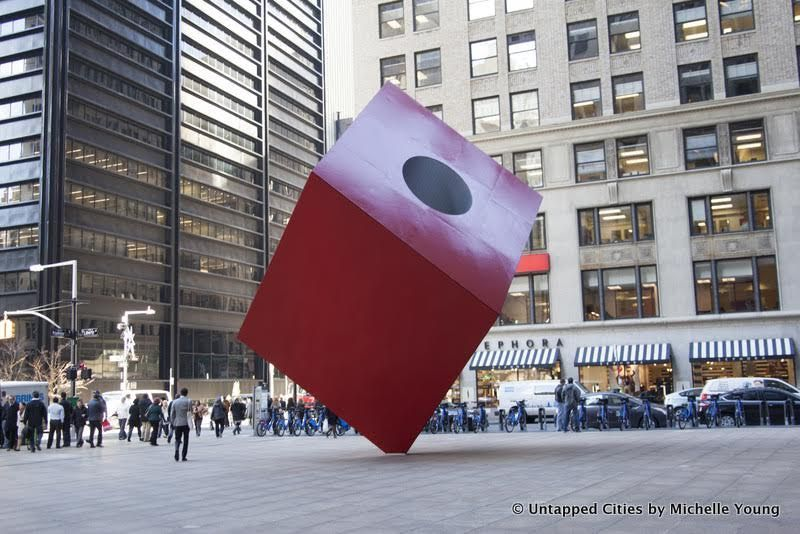 Isamu Noguchi Red Cube Untapped Cities AFineLyne
