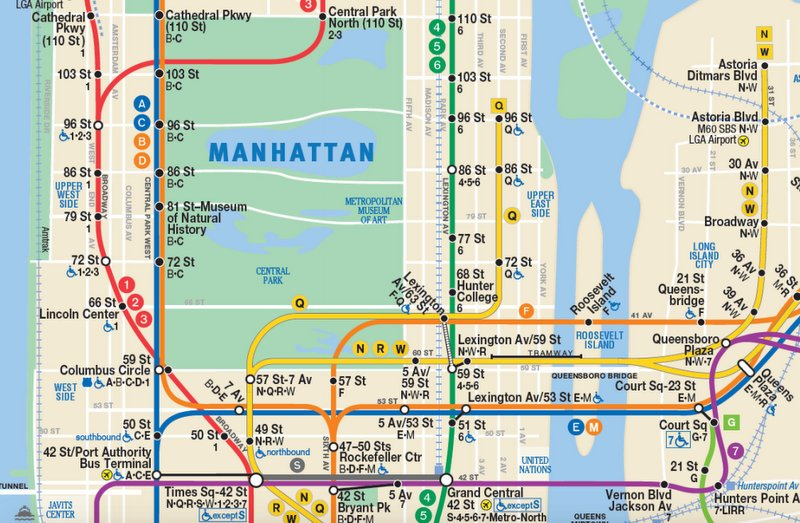 Mya Subway Map.Mta Adds Second Avenue Subway Line To Nyc Subway Map Untapped Cities