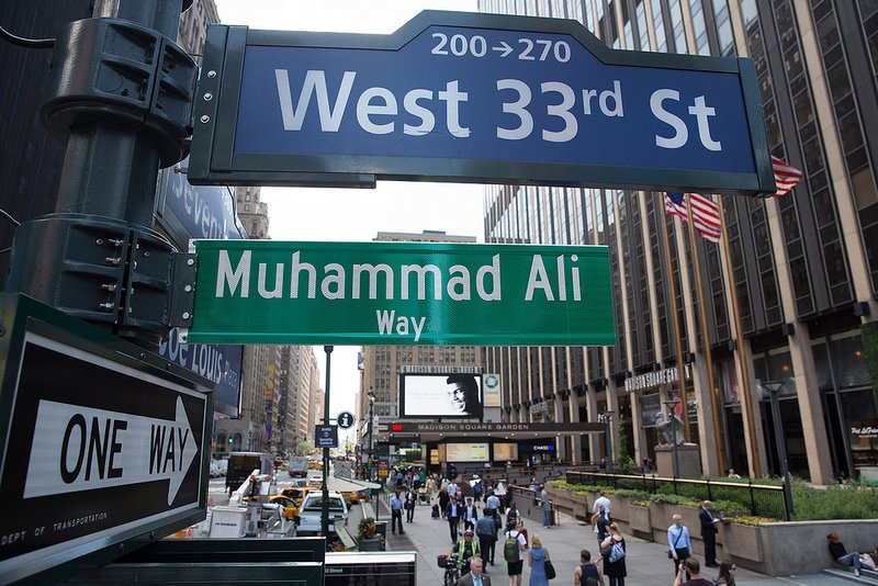 Muhammad Ali Way Street Signs Appears on West 33rd Street