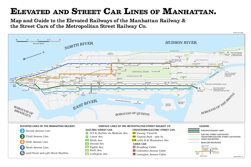 Nyc Subway Map Over Street Map.Fun Maps The Lost Subway And Streetcar Lines Of Nyc Washington