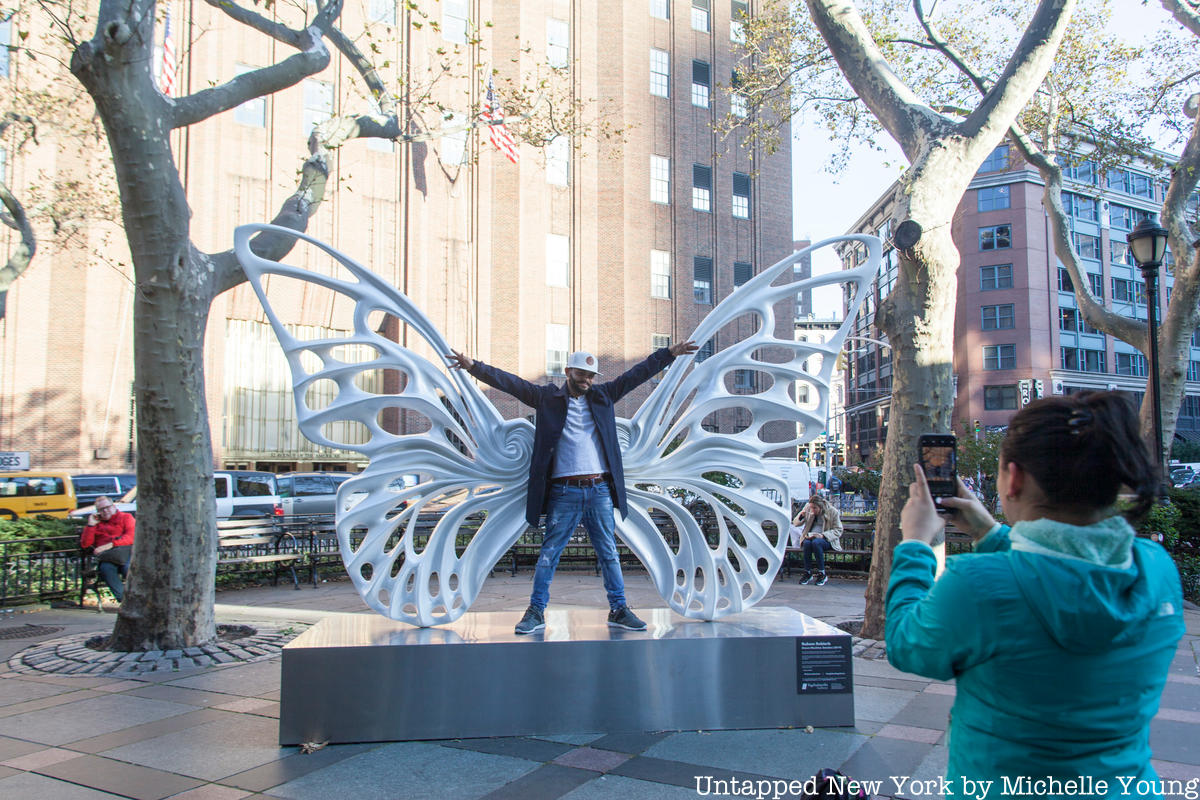 Butterfly Wing Art Installation Commemorates Transgender Lives in Tribeca Park