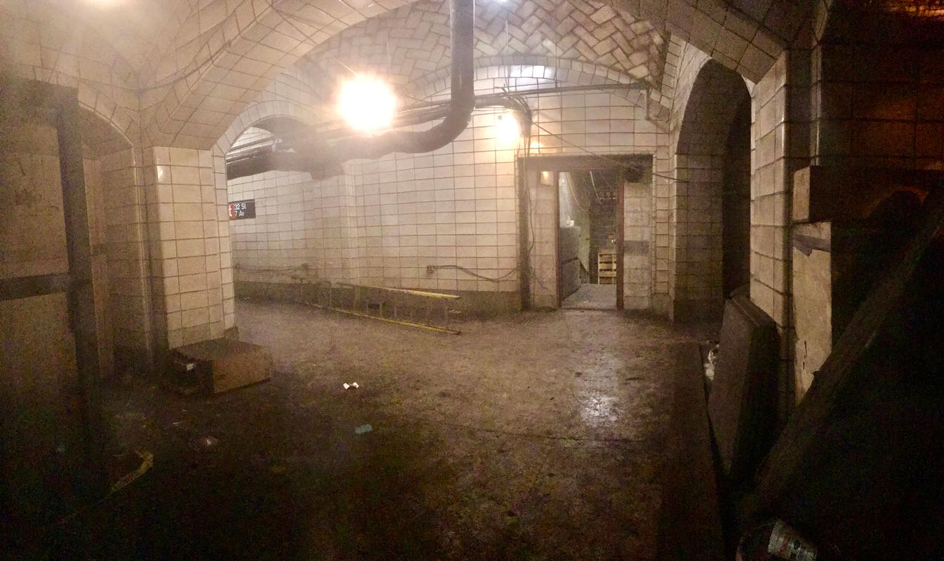 Penn Station Renovations Reveal Guastavino Ceilings in Lost IRT Subway Passageway