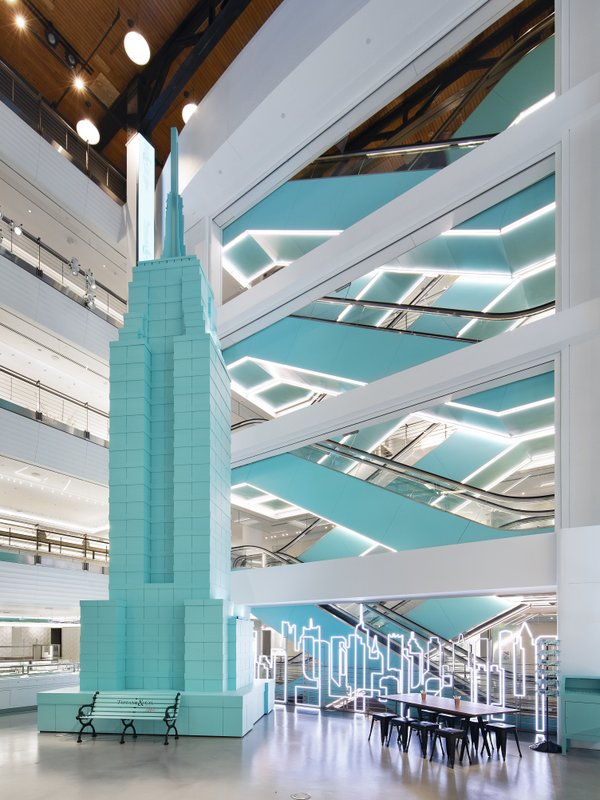 Interior atrium of Tiffany Flagship Next Door